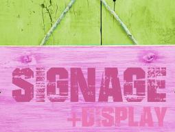 signage + display